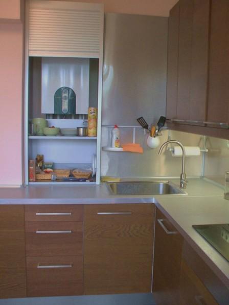 Как скрыть котел на кухне - фото