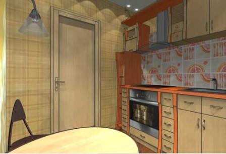 Дизайн-проект кухни 6 кв. м - готовое решение