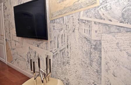 Использование техники сграффито в интерьере