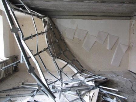 Работы по демонтажу потолка