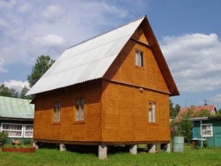 брусовый дом на столбчатом фундаменте