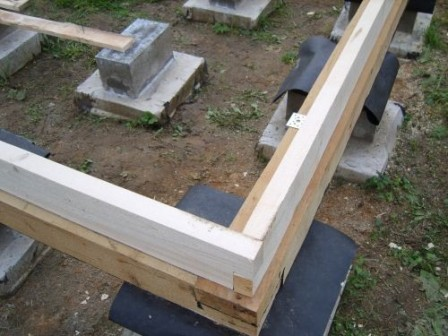 столбчатый фундамент для дома из профилированного бруса