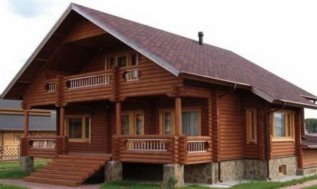 оцилиндрованный дом