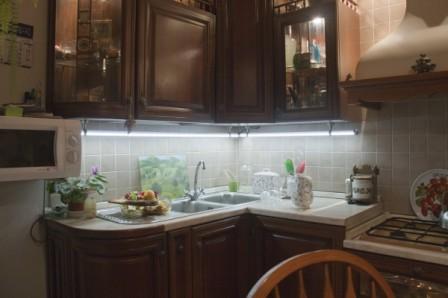Варианты освещения рабочей зоны на кухне