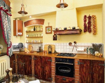 Мурованная кухня
