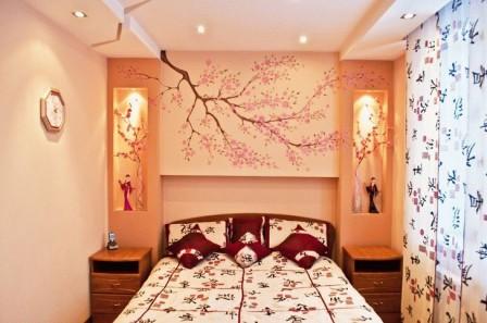 Ниши в спальне над кроватью - интересные идеи