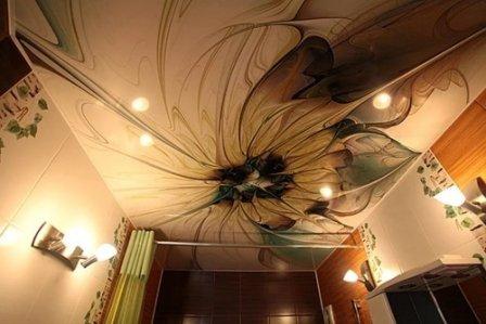 Натяжные потолки: виды фактур