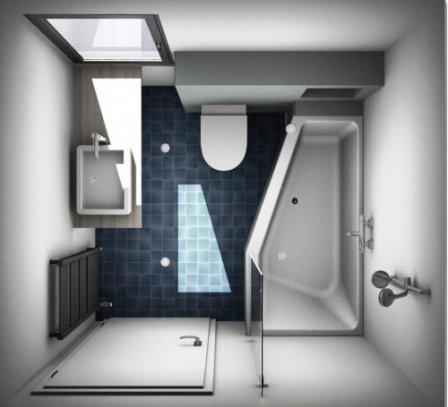 Планировка ванной комнаты совмещенной с туалетом - 35 проектов с описанием
