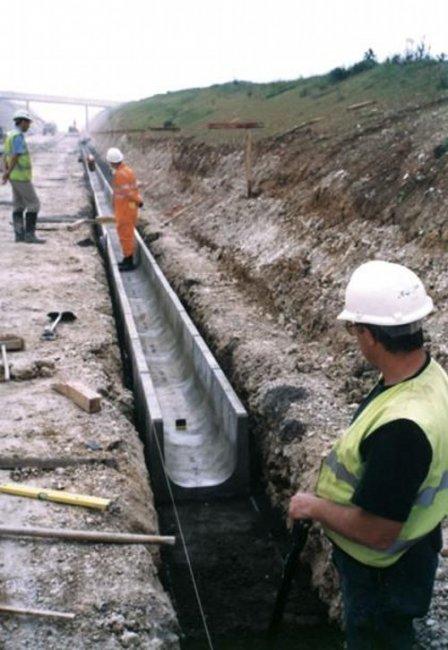 Сооружения системы водоотвода с автомобильных дорог