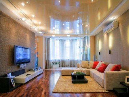 Натяжные потолки - яркий и изысканный интерьер