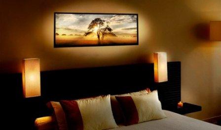 Подсветка картин в интерьере