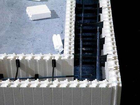 Строительство дома с применением несъемной опалубки из полистирола