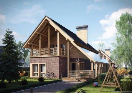 Эскиз проекта дома площадью 116 кв. м