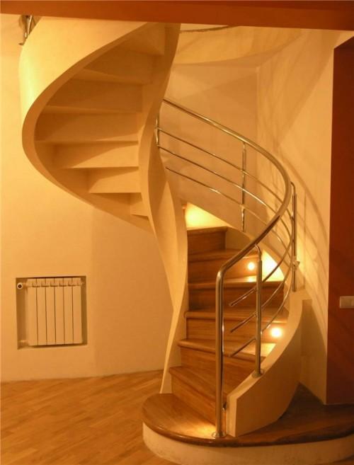 Сколько занимает винтовая лестница