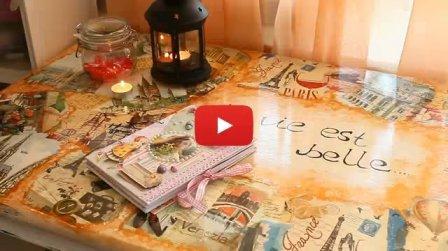 Стильное обновление старого стола - видео
