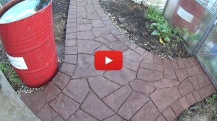 Бетонная дорожка под камень своими руками - видео