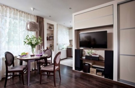 Кухня-гостиная в однокомнатной квартире - варианты оформления
