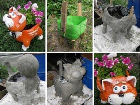 Садовые фигуры из декоративного бетона своими руками