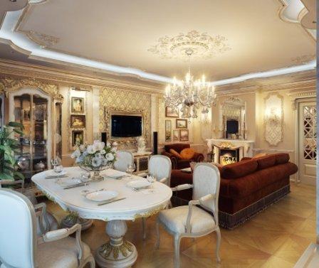 Гостиная в классическом стиле: правила оформления