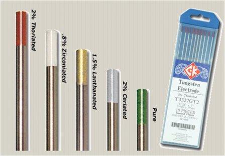 Вольфрамовые электроды и их маркировка по составу и цвету