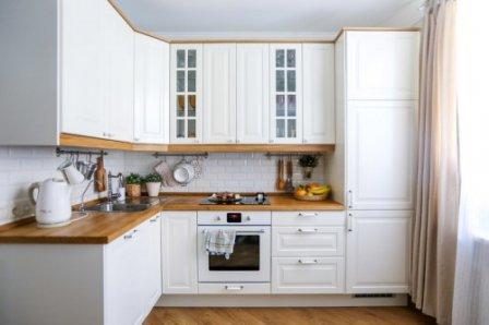 Белый кухонный гарнитур - классика жанра