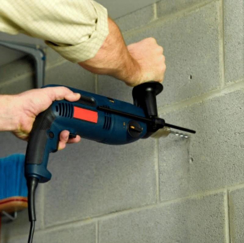 инструменты для сверления отверстий в бетоне