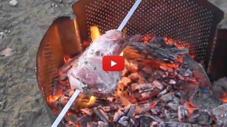 Мангал из барабана стиральной машины - видео