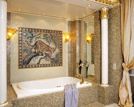 Тонкая стилистика востока в ванной комнате
