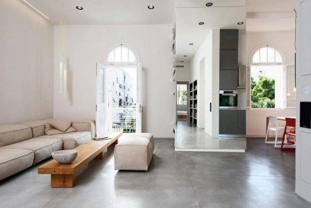 Бетон в интерьере квартиры - фото дизайна