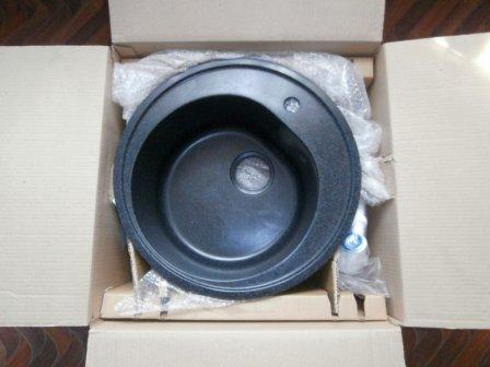 Кухонная мойка AquaGranitEx M-08 (308) черная - обзор модели