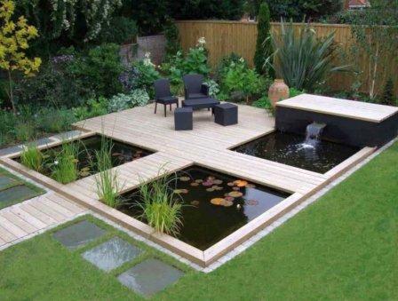 Оформление сада в современном стиле