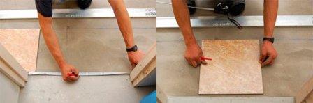Укладка керамической плитки на пол своими руками