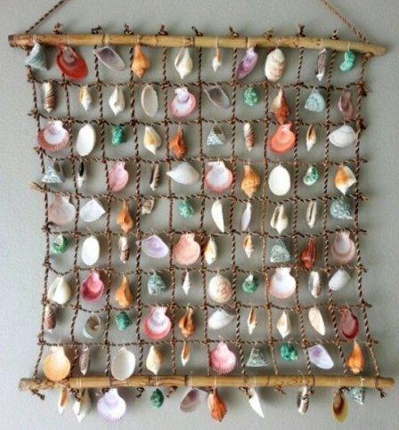 Как красиво оформить стены - декор из ракушек