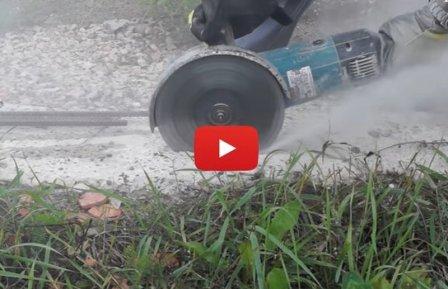 Пилим болгаркой без пыли - видео