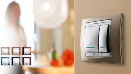 Итальянского стандарта выключатели света: ksimex-electro.com.ua