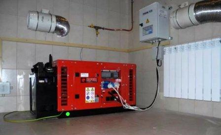 Установка дизельного генератора и бензогенератора