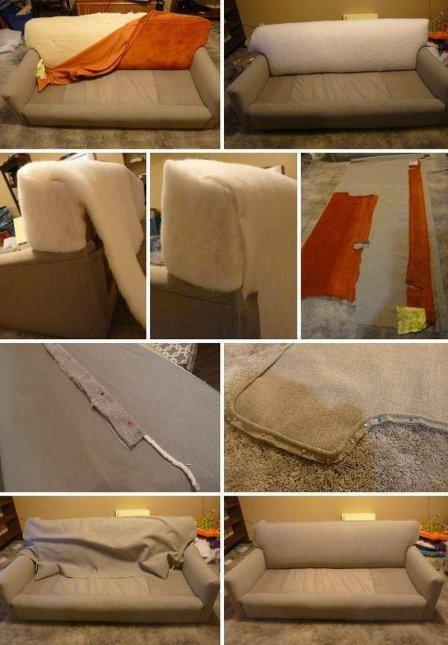 Реставрация старой мягкой мебели