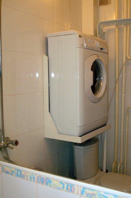 Где поставить стиральную машину в маленькой квартире - фото
