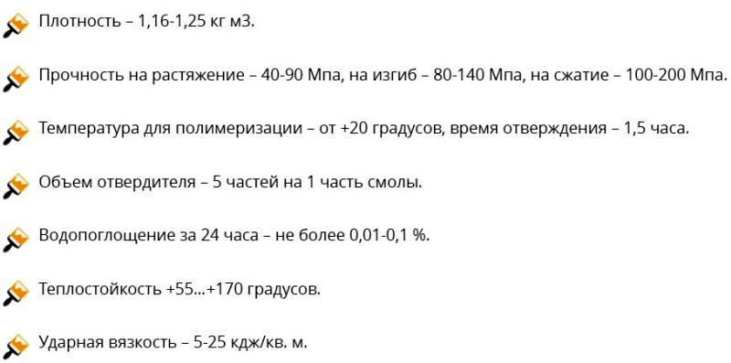 Эпоксидная смола ЭД-20 характеристики