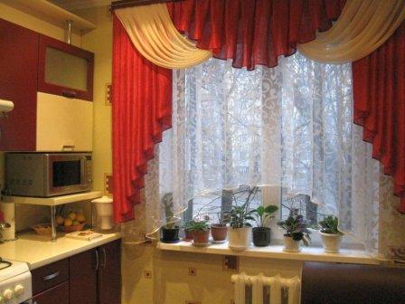 Ламбрекены на кухню - советы по выбору дизайна