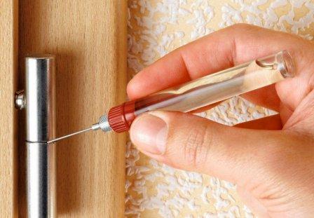 Чем смазать дверные петли от скрипа?