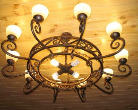 Изящные кованые светильники
