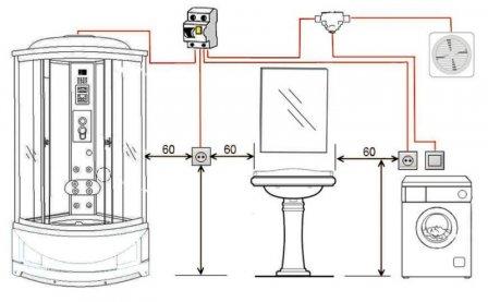 Проводка в ванной комнате должна быть надежной