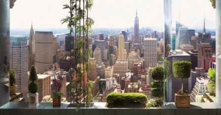 Панорамные фотообои в дизайне интерьера
