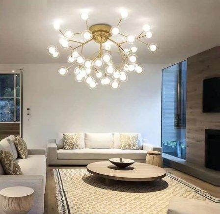 Выбираем подвесные люстры для гостинной