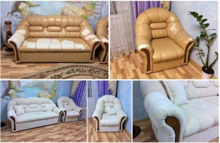 Как восстанавливают мягкую мебель