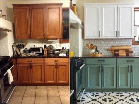 Декорирование кухонной мебели своими руками