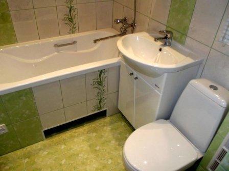 Облицовка ванной комнаты кафельной плиткой