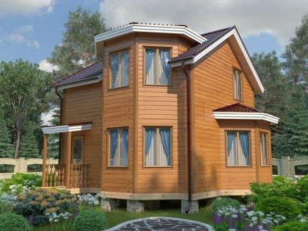 Загородные дома из бруса: достоинства