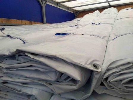 Утепленные брезентовые тенты для строительства и защиты продукции